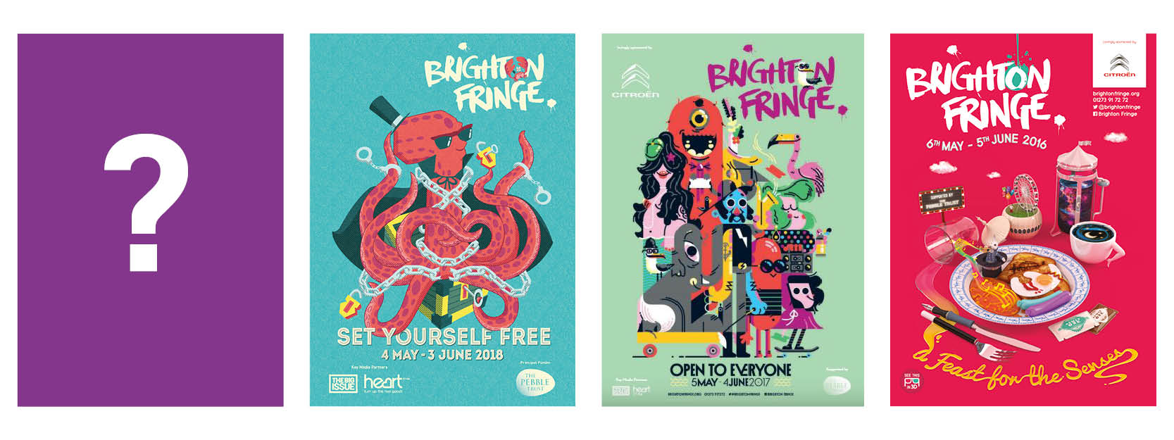 brighton fringe brochure covers